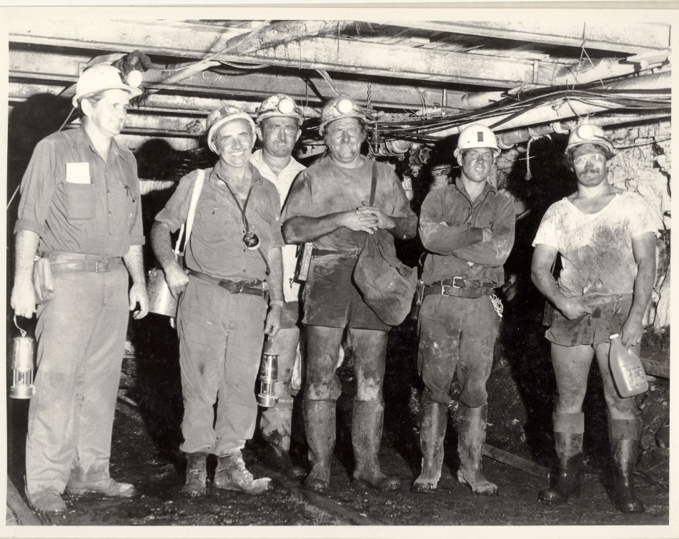 John Darling Colliery, Belmont, Lake Macquarie, NSW. Unidentified miners