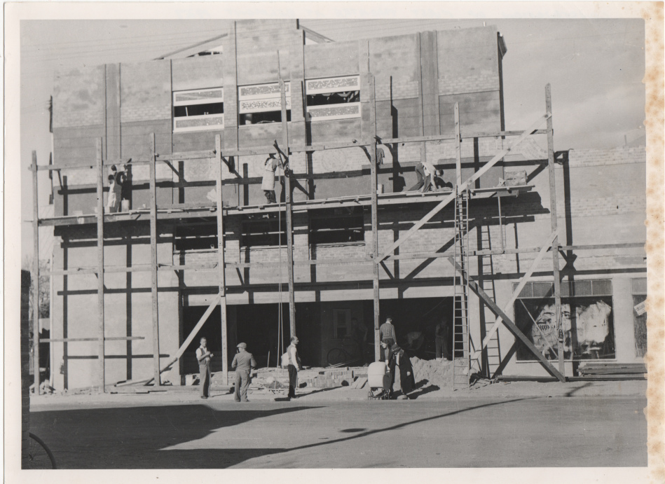 First Melvic Theatre, Pacific Highway Belmont NSW under construction. 1927