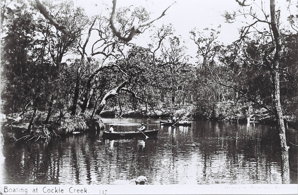 Boating at Cockle Creek, c1907,