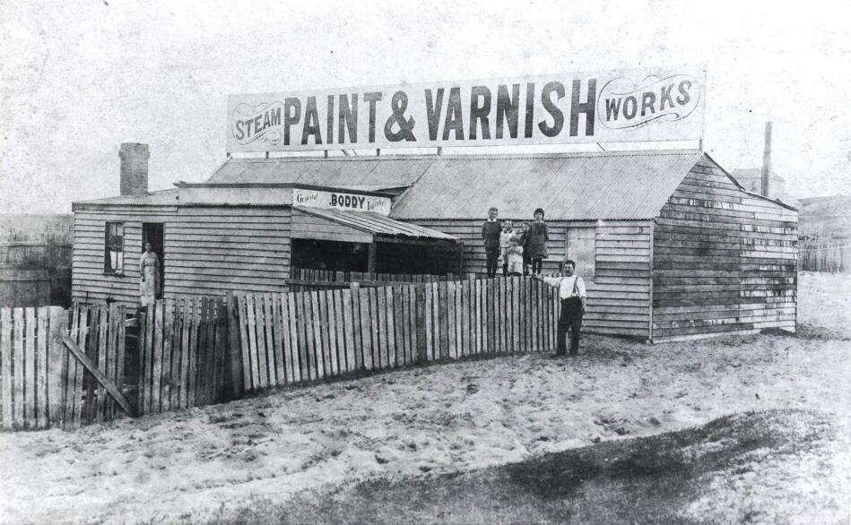Paint and Varnish Steam Works, King St, Violet Town (owned by Charles Boddy)