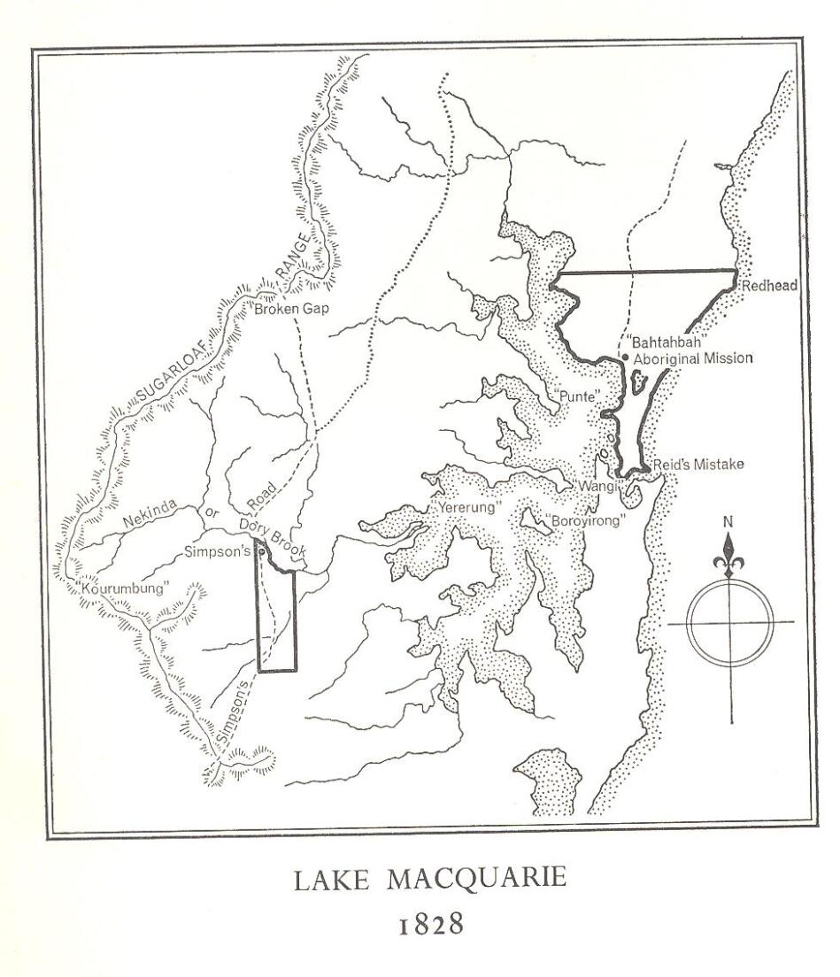 1828 Map of Lake Macquarie