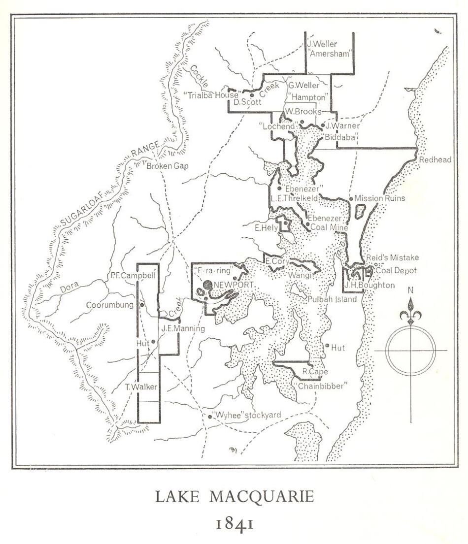 1841 Map Lake Macquarie
