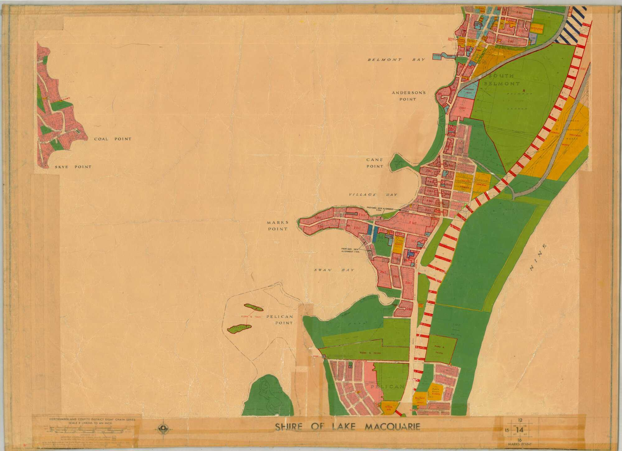 Marks Point Northumberland County District Scheme Map Shire Of - Marks lake maps