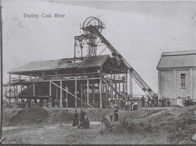 photo: postacard of relatives at dudley mine